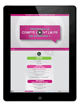 Photo IPAD Console de formation E-learning par AV PROD