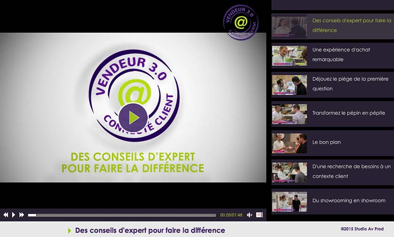 Photo Console de formation E-learning VENDEUR 3.0 par AV PROD