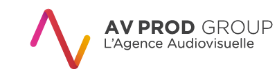 AV PROD : AGENCE DE PRODUCTION AUDIOVISUELLE NORD Sticky Logo